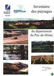 Inventaire des Paysages du Puy-de-Dôme - Webissimo