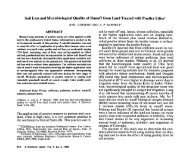 Soil Loss and Microbiological Quality of Runoff from Land Treated ...
