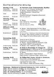 Nr. 11 / 2012 - Stadtpfarrei Grafenau
