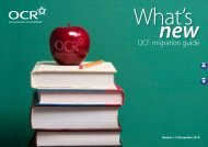 QCF migration guide - Partnership for Young London