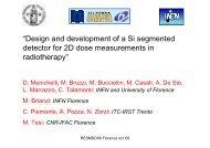 Design and development of a silicon segmented detector for 2D ...