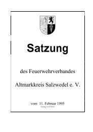 Satzung - Feuerwehrverband Altmarkkreis Salzwedel eV