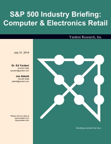 S&P 500 Industry Briefing: Computer & Electronics Retail - Dr. Ed ...