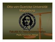 PDF-Folien Erstsemestereinführung 2006 - Otto-von-Guericke ...