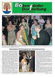Kaiserlicher Frühlingsball des Schützenvereins - in Bökenförde!