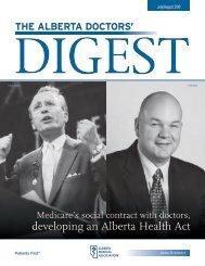 Digest (July/August, 2010, p. 25) - Alberta Medical Association