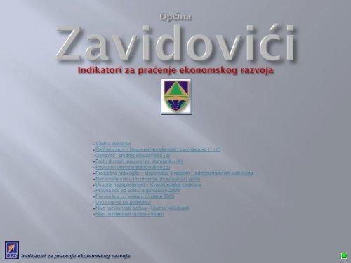 Indikatori za praćenje ekonomskog razvoja Općine Zavidovići - REZ