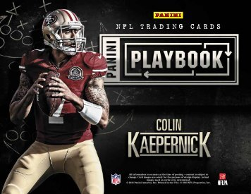 2013 Panini Playbook Football Product Information Sheet