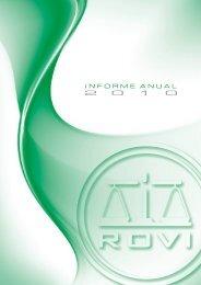Informe Anual 2010 Español FINAL.cdr - Laboratorios Rovi