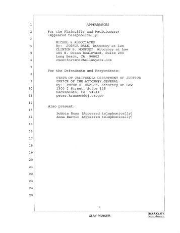 Supplemental Declaration of Clint Monfort Part4 - Michel and ...