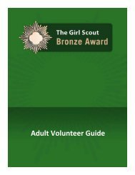 Bronze Award Adult Volunteer Guide - Girl Scouts