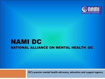 NAMI DC National Alliance on Mental Health -DC