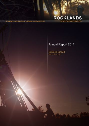 2011 Annual Report - CuDeco