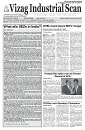 What ails SEZs in India? - Vizag Industrial Scan