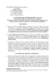Message del'Assemblée plénière 2007 - Caritas Goma