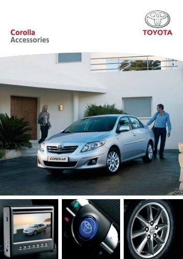 Corolla Accessories - Toyota