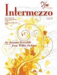 An Autumn Serenade from Willie Pickens - Chicago Federation of ...