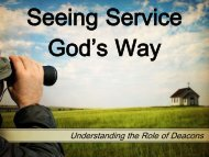 Understanding the Role of Deacons - Graymere church of Christ