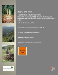REDD and ANR Technical Specifications - Plan Vivo