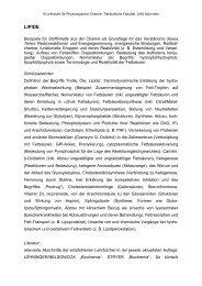 LIPIDE - Physiologische Chemie