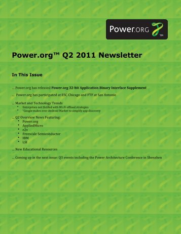 Power.org Q2 2011 Newsletter final