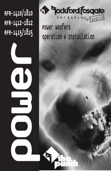 • Power woofer manual