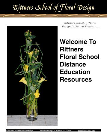 to download a free pdf brochure with information - Rittners School of ...