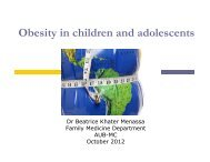 Obesity in children and adolescents