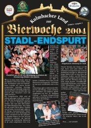 STADL-ENDSPURT - Bierfestzeitung