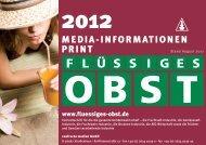 Media-Informationen 2012 - Flüssiges Obst