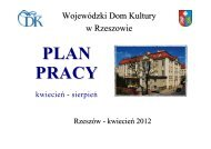 PLAN PRACY NA II i III KWARTAŁ 2012 - Wojewódzki Dom Kultury ...