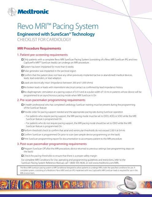 """Revo MRIâ""""¢ Pacing System - Medtronic"""