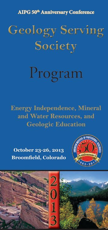 Program - American Institute of Professional Geologists
