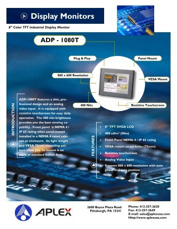 Datasheet - ADP1080 - Adcon Engineering Co