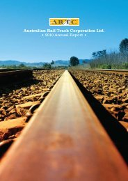Annual Report 2009 / 2010 - Australian Rail Track Corporation