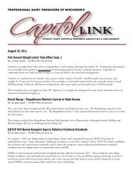 Capitol Link ~ August 2011 (pdf) - Professional Dairy Producers of ...