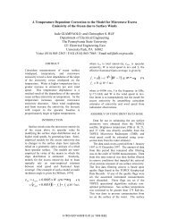 A Temperature Dependent Correction to the Model for Microwave ...