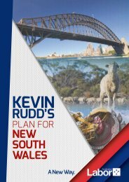 KEVIN RUDD'S POSITIVE PLAN fOR NEW SOUTH WALES