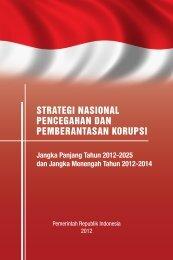 strategi nasional pencegahan dan pemberantasan korupsi - UNDP