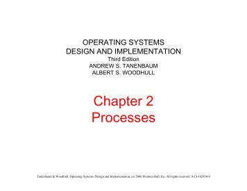 Chapter 2 Processes
