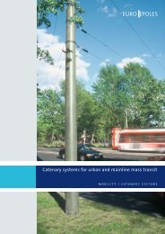 Catenary systems for urban and mainline mass transit - Europoles