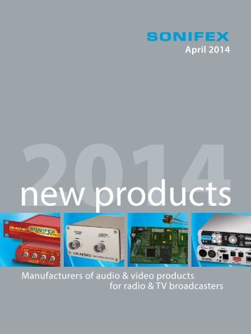 our new product brochure - Sonifex