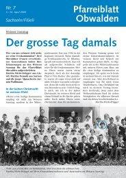 Der grosse Tag damals - Kirche Obwalden