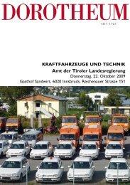 KRAFTFAHRZEUGE UND TECHNIK Amt der Tiroler ... - Dorotheum