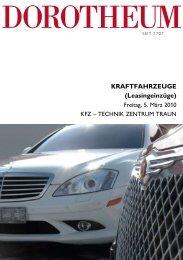 Kraftfahrzeuge (Leasingeinzüge) - Dorotheum