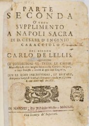 Parte seconda o vero supplimeto a Napoli sacra - Biblioteca ...