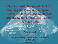 Distributional changes of plankton standing stock and non ... - meece
