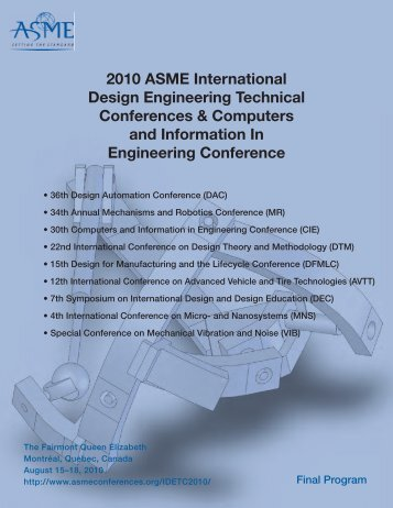 2010 ASME International Design Engineering Technical - Events