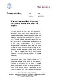 Pressemitteilung - RSC Bad Homburg 1979 eV
