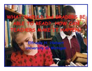 WHAT SHOULD 3rd GRADERS BE ABLE TO READ ... - TextProject
